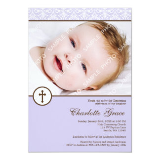 Baptême lilas de baptême de photo de fille de bristol personnalisé