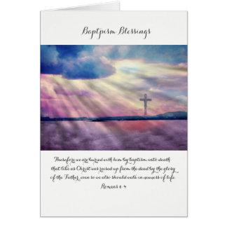 Baptism blessings, Christian folded card
