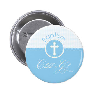 Baptism Blue Child of God, Customizable 2 Inch Round Button