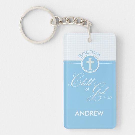 Baptism Blue Child of God, Customizable Double-Sided Rectangular Acrylic Keychain