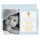 Baptism | Boy Eternity Rings Gold Cross Photo Card
