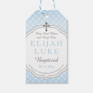Baptism | Boy Eternity Rings Vintage Cross Pack Of Gift Tags