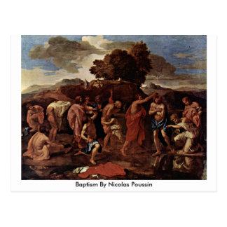 Baptism By Nicolas Poussin Postcard