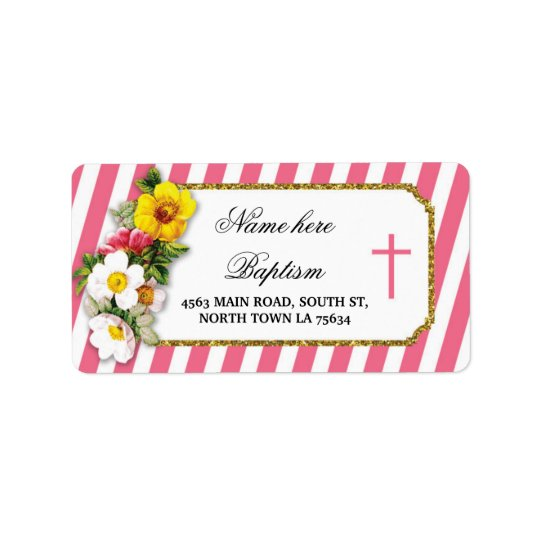 Baptism Christening Address Label Stickers Wedding