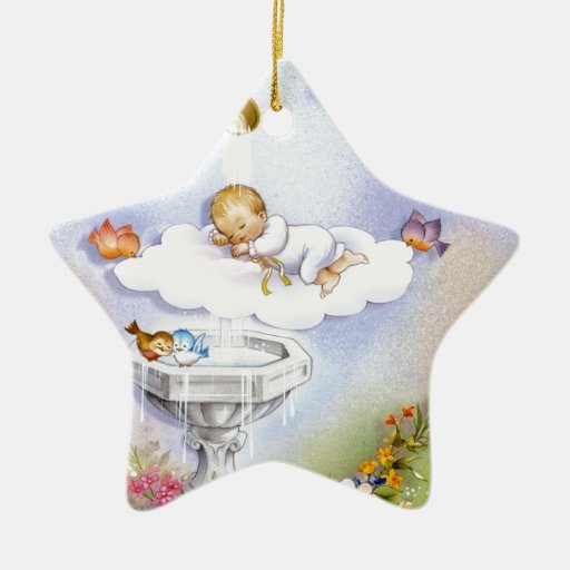 Baptism Christening Baby Christmas Tree Ornaments