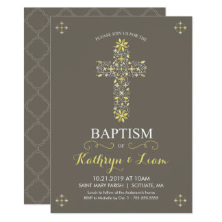 Baptism, Christening Invitatio, Girl and or Boy Card