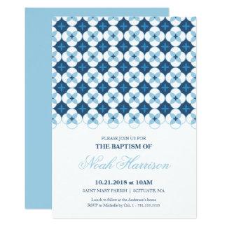 Baptism, Christening Invitation - Boy Invite