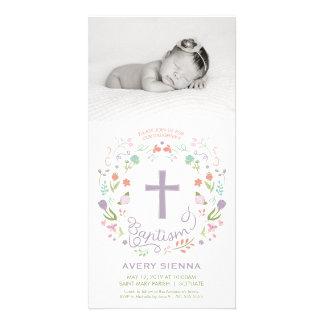 Baptism, Christening Photo Card Invitation - Girl
