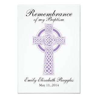 Baptism Christening Prayer Card