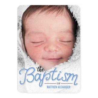 Baptism Cover Baptism Invitation - Blue