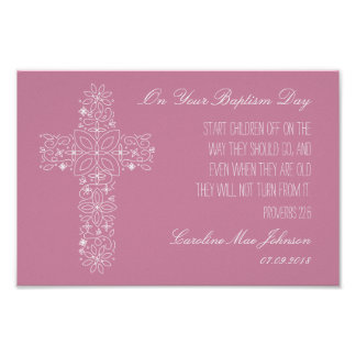 Baptism Gift - Customized Print w/ Bible Passage