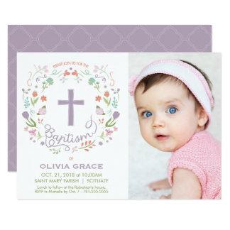 Baptism Invite for Girl - Photo, Custom, Pretty
