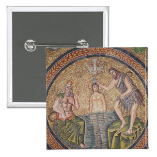 Baptism of Christ by John the Baptist 2 Inch Square Button