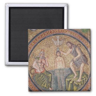 Baptism of Christ by John the Baptist Square Magnet