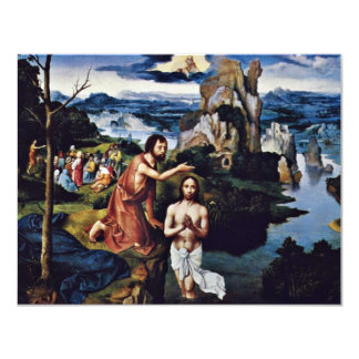 Baptism Of Christ By Patinir Joachim (Best Quality Card