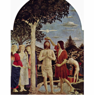 Baptism Of Christ By Piero Della Francesca Standing Photo Sculpture