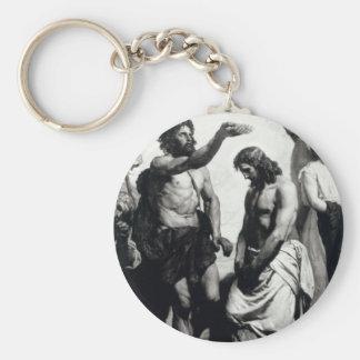 Baptism of Christ. circa 1879 Basic Round Button Keychain