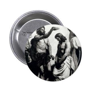 Baptism of Christ. circa 1879 Pinback Button