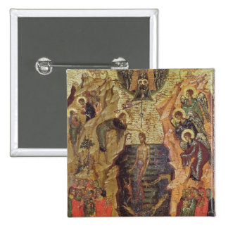 Baptism of Christ, from Sandzak 2 Inch Square Button