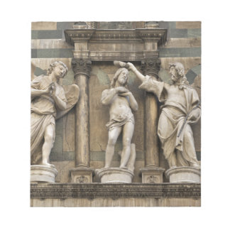 Baptism of christ - statue from Florence Notepad