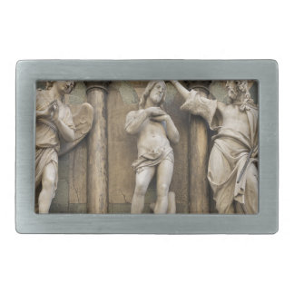 Baptism of christ - statue from Florence Rectangular Belt Buckles