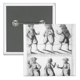 Baptism of the Tupinambras Tribe 2 Inch Square Button