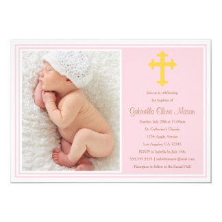 Baptism - Pink | Invitation