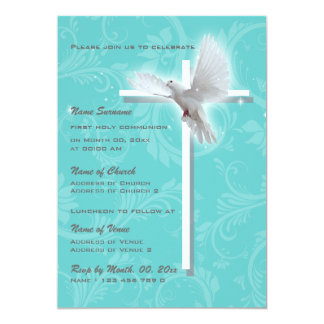 Baptism religious communion confirmation dove card