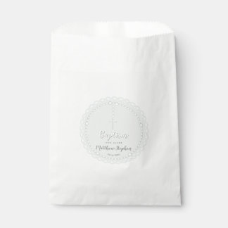 Baptism Rosary on Powdered Blue Favour Bag