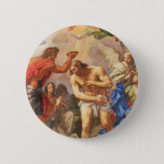Baptism scene in San Pietro basilica, Vatican 2 Inch Round Button