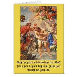 Baptism scene in San Pietro basilica, Vatican Card
