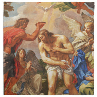 Baptism scene in San Pietro basilica, Vatican Napkin