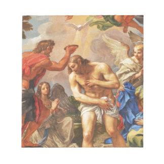 Baptism scene in San Pietro basilica, Vatican Notepad
