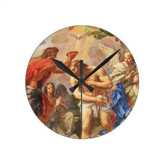 Baptism scene in San Pietro basilica, Vatican Round Clock