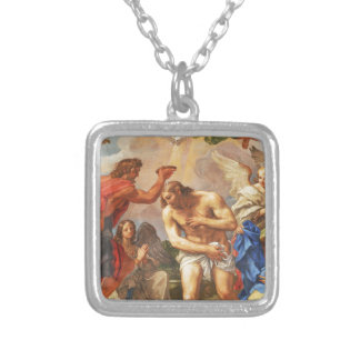 Baptism scene in San Pietro basilica, Vatican Silver Plated Necklace