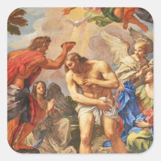Baptism scene in San Pietro basilica, Vatican Square Sticker
