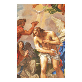 Baptism scene in San Pietro basilica, Vatican Stationery