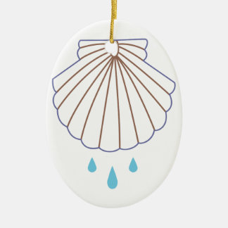 Baptism Shell Applique Ceramic Ornament