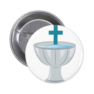 Baptismal Font 2 Inch Round Button