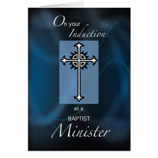 Baptist Minister Induction Congratulations Cross Card
