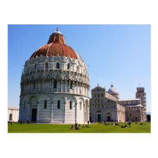 Baptistery and Pisa Tower Post Card