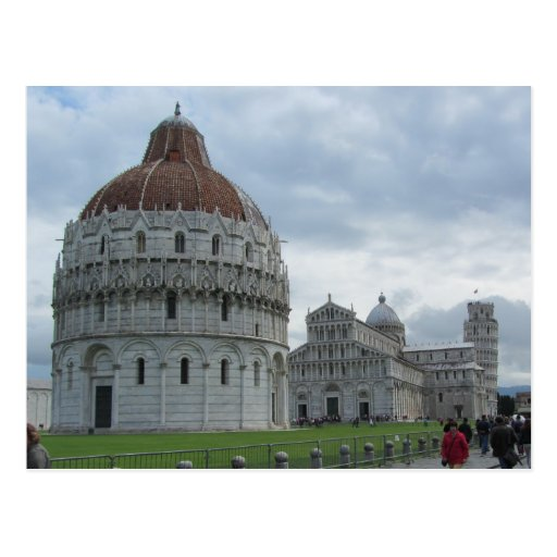 Baptistry and Tower of Pisa Post Cards