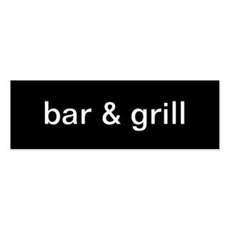 Bar and Grill Business Card
