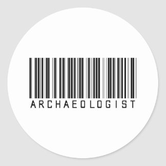 BAR ARCHAEOLOGIST LIGHT CLASSIC ROUND STICKER
