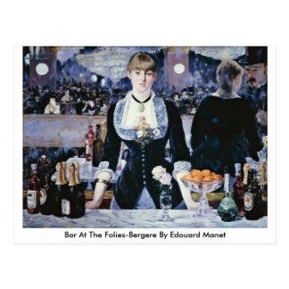 Bar At The Folies-Bergere By Edouard Manet Postcard