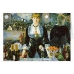 Bar at the Folies-Bergere, Manet, Vintage Fine Art Greeting Card