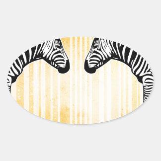 Bar Code Art Design Vector Fun Color Oval Sticker