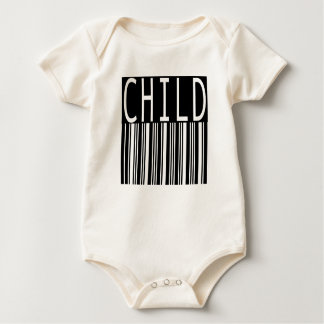 bar code child baby bodysuit