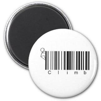 Bar Code Climb 2 Inch Round Magnet