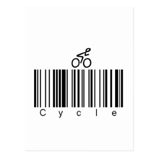 Bar Code Cycle Postcard